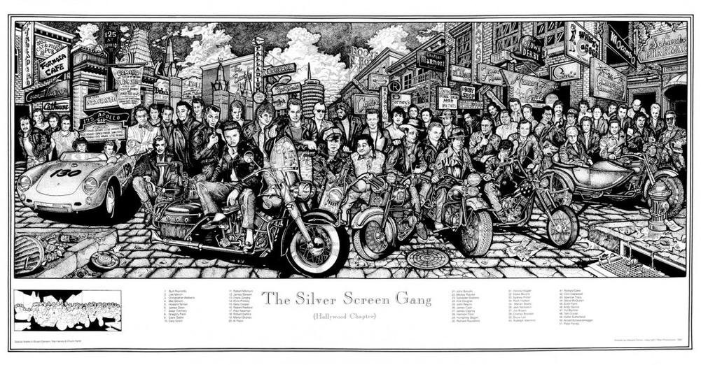 The Silver Screen Gang (Hollywood Chapter) Art 36 X 19 inch Movie Poster