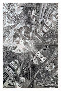 M.C. Escher's The Atrium 22 X 32 inch Art Poster