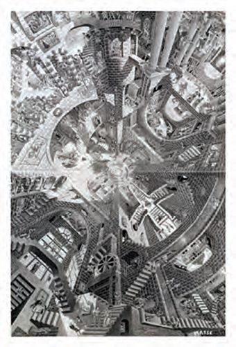 M.C. Escher's The Atrium 22 X 32 inch Art Poster