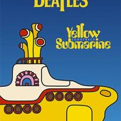 The Beatles Yellow Submarine (Single Boat and Title) 24 x 36 inch Music Poster