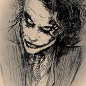 The Dark Knight Joker Sketch 24 X 36 inch Movie Poster