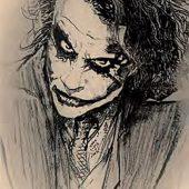 The Dark Knight Joker Sketch 24 X 36 inch Movie Poster