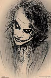 The Dark Knight Joker Sketch 22 X 34 inch Movie Poster