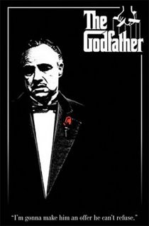 Francis Ford Coppola's The Godfather – Red Rose 24 x 36 inch Movie Poster