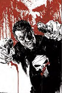 Marvel's The Punisher with a Pair of Pistols 23 X 35 inch Comic Poster