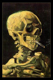 Van Gogh Skull 24 X 36 inch Poster