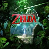 The Legend of Zelda – Forest Green Collage with Sword 36 X 24 inch Game Poster