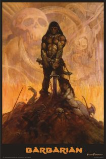 Frank Frazetta The Barbarian 24 x 36 inch Fantasy Art Poster