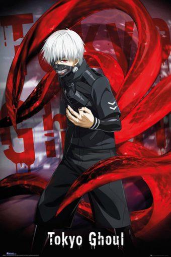 Tokyo Ghoul Kaneki Red Pose 24 x 36 inch Anime Series Poster