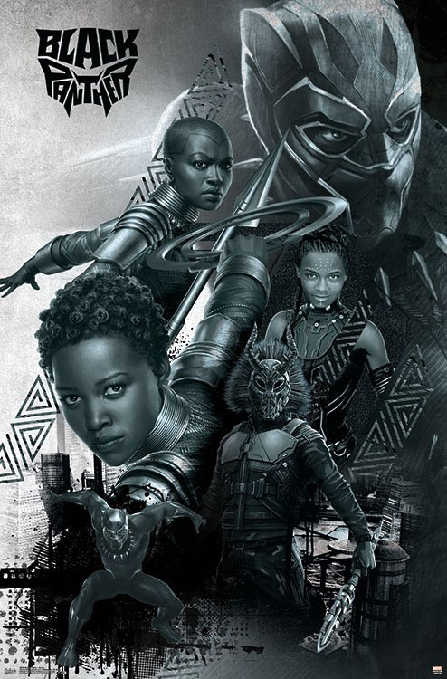 24x36 Lupita Nyong/'o - Boseman Danai Gurira v4 Black Panther Movie Poster