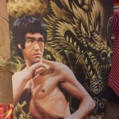 Bruce Lee 19 x 28.5 inch Fabric Scroll Banner Poster