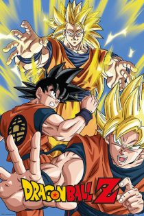 Dragonball Z – Goku Three Character Pose 24 x 36 inch Anime Poster