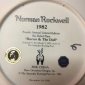 Norman Rockwell 1982 Fourth Annual Limited Edition Bas Relief Plate