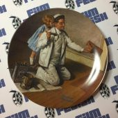 Norman Rockwell Limited Edition 1983 Edwin M. Knowles The Painter Plate Number 6,998
