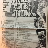The Monster Times Magazine Volume 1 Number #6 with full-color Plague of the Zombies Poster (1972)