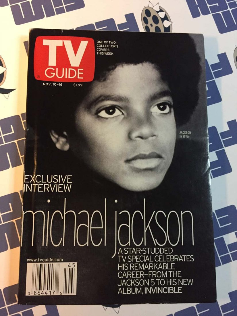 TV Guide Magazine Exclusive Interview Michael Jackson November 10-16, 2001 Gloria Reuben