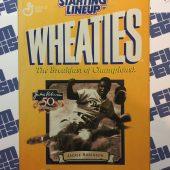 Starting Lineup Wheaties Jackie Robinson 50th Anniversary Figure + Card + Medallion