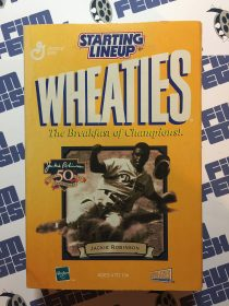 Starting Lineup Wheaties Jackie Robinson 50th Anniversary Figure + Card + Medallion