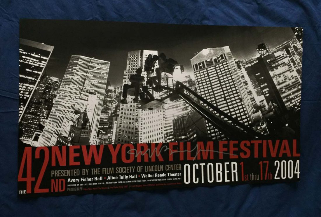 42nd New York Film Festival Official Poster 38 x 22 inch – Photographed and Signed by Jeff Bridges (2004)