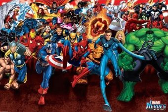 Marvel Superheroes Attack 36 x 24 inch Comics Poster