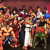 Street Fighter Character Group Shot 36 x 24 inch Video Game Poster