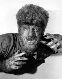 The Wolf Man Black and White Portrait 24 x 36 inch Movie Poster