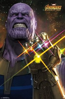 Avengers: Infinity War Thanos Fist Punch 22 x 34 inch Movie Poster 15239