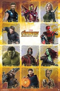Avengers: Infinity War Portrait Collage Chart 22 x 34 inch Movie Poster 15241