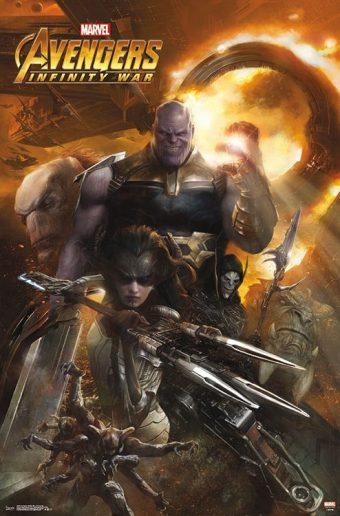 Avengers: Infinity War Evil Thanos Portrait 22 x 34 inch Movie Poster 16446