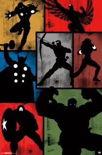 Marvel's The Avengers Mosaic Simplistic Collage 22 x 34 inch Comics Poster
