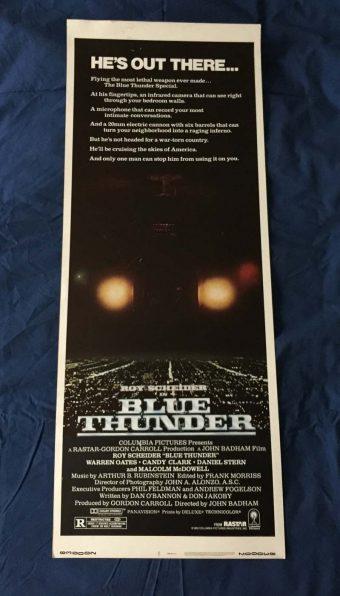Blue Thunder Original Insert 14 x 36 inch Movie Poster
