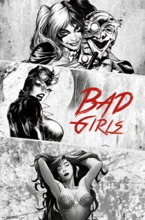 DC Comics Bad Girls 22 x 34 inch Drawn Character Poster – Harley Quinn, Cat Woman and Poison Ivy