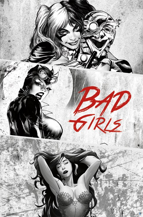DC Comics Bad Girls 22 x 34 inch Drawn Character Poster – Harley Quinn 12fb6989c5