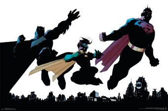 DC Comics Superhero Trio – Batman, Robin and Superman 34 x 22 inch Poster