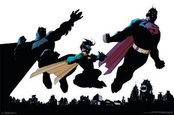 DC Comics Superhero Trio – Batman, Robin and Superman 34 x 22 inch Poster