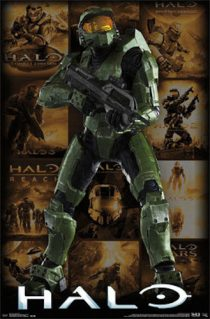 Halo Image Collage Key Art 22 x 34 inch Gaming Poster