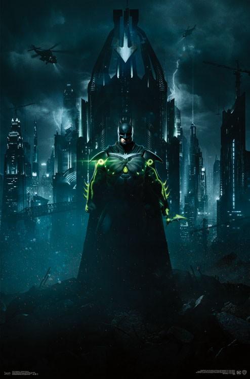 Injustice 2 Batman Portrait Key Art 22 x 34 inch Video Game Poster