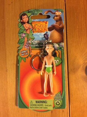 RARE Jungle Book Mowgli Keychain/Clip-On Sun Mate