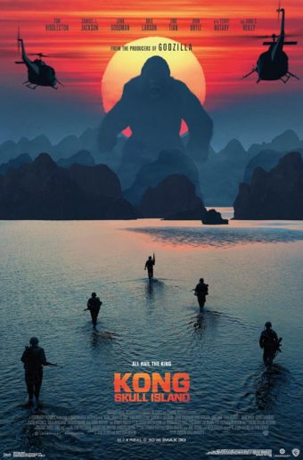 Kong: Skull Island Beach Scene 22 x 34 inch Teaser Movie Poster