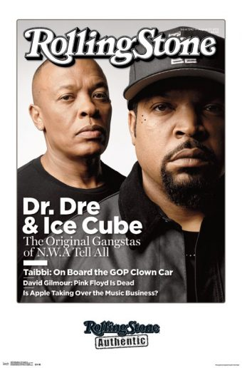 Rolling Stone Magazine Dr. Dre and Ice Cube Portrait 22 x 34 inch Cover Poster + Magazine Subscription