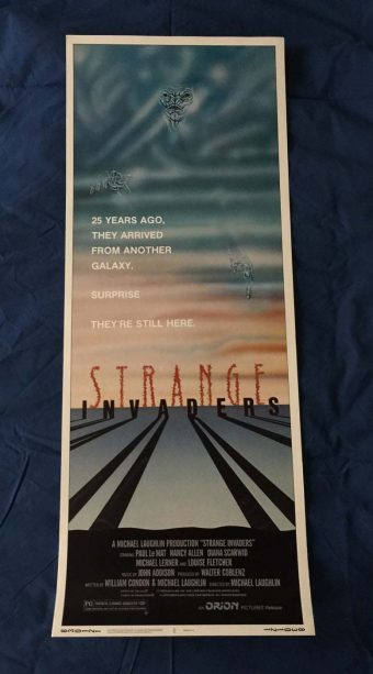 Strange Invaders Original Insert 14 x 36 inch Movie Poster (1983)