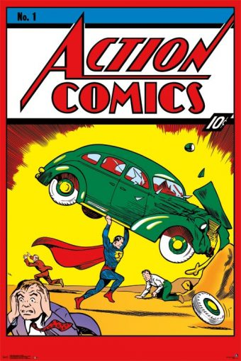 Action Comics Number 1 Cover Featuring Superman 24 x 36 inch Comics Poster