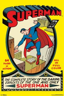 Superman Number 1 Comic Cover 24 x 36 inch Poster