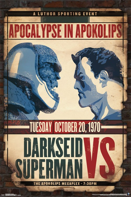 Darkseid vs Superman Apocalypse in Apokolips 24 x 36 inch Comics Poster