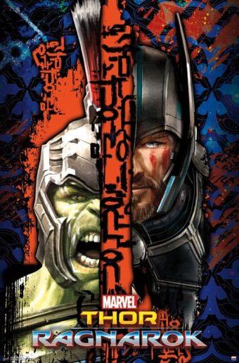 Thor: Ragnarok Hulk/Thor Character Portrait Split 22 x 34 inch Movie Poster