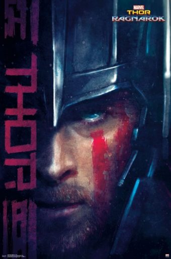 Thor: Ragnarok Thor Dramatic Portrait 22 x 34 inch Movie Poster