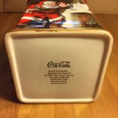 Coca Cola Holiday Portraits Stoneware Canister Sakura Red (2002) with Box