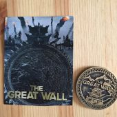 NYCC Exclusive 2016 The Great Wall Medallion Coin Promo Karry Wang Matt Damon