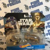 Star Wars Hot Wheels Character Cars R2-D2 and C-3PO