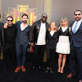 Photos from the L.A. premiere of crime thriller Hotel Artemis